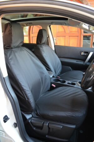 Nissan Qashqai 2007-2013 Front Seat Covers - Black