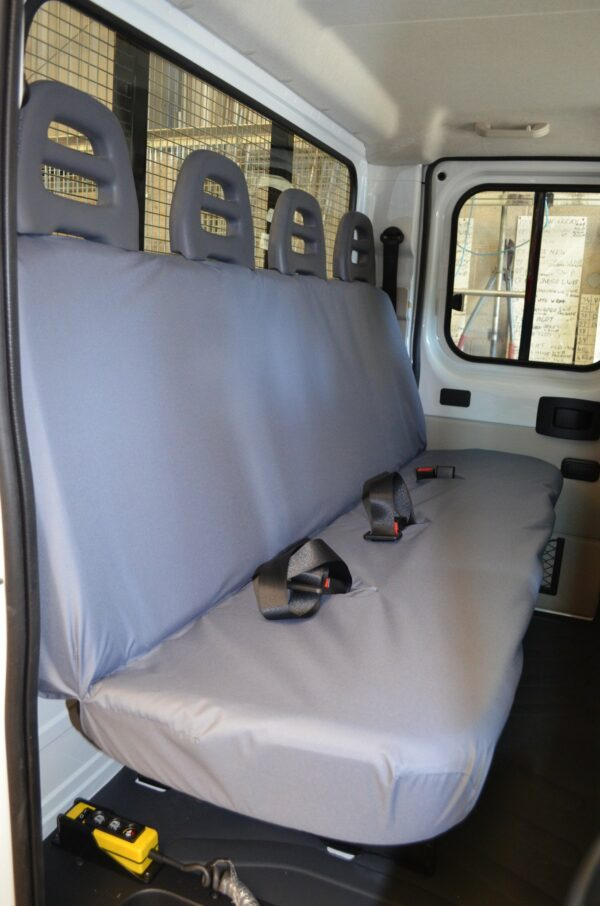 Peugeot Boxer 2006 on Cab 4 Seater Seat Covers - Grey