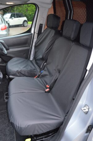 Peugeot Partner 2018 on Front Seat Covers - Black