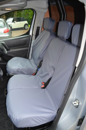 Peugeot Partner 2018+ front seat covers - grey