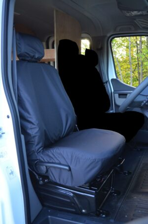 Renault Master Single Driver's Seat Cover - Black