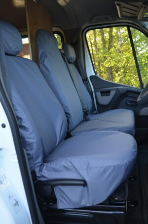 Renault Master 2010 Driver and Double Passengers Grey
