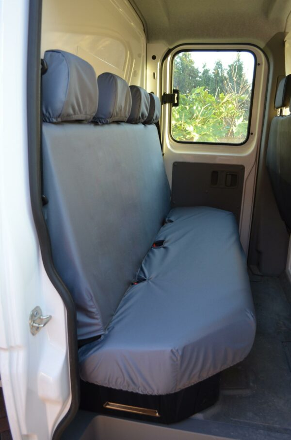 Renault Master 2010 on chassis cab rear seat covers-grey