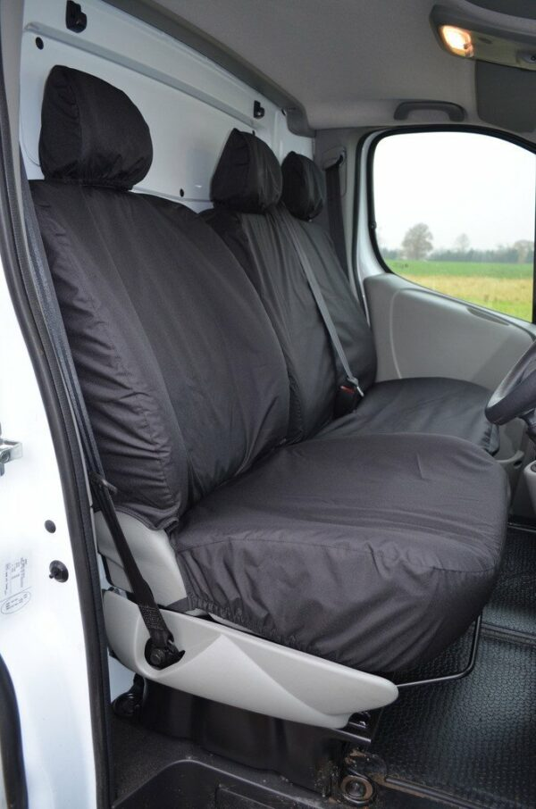 Renault Trafic 2001-2006 - Front Seat Covers - Black