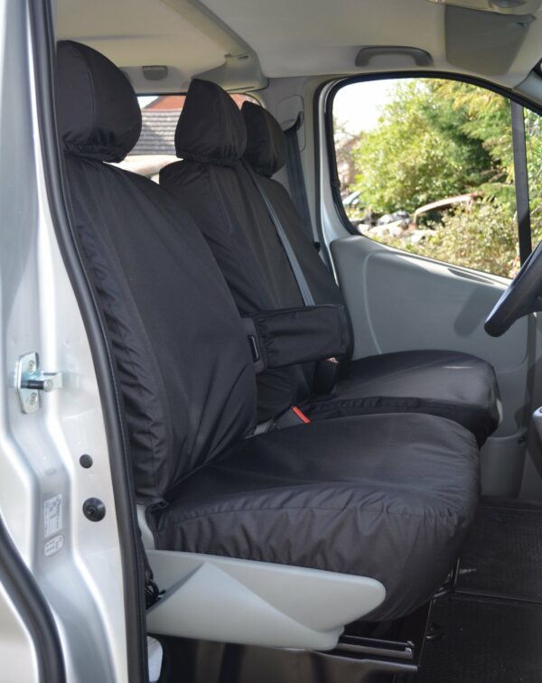 Renault Trafic 2001-2006 Driver Seat With Armrest Double Passenger - Black