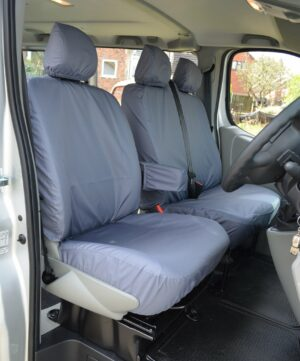Renault Trafic 2006-2014 Driver Seat Double Passenger Covers - Grey