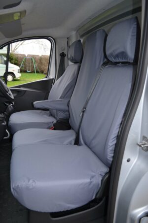 Renault Trafic 2014 on Seat and folding passenger seat covers - grey