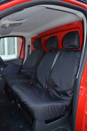 Renault Trafic Driver and Non-Folding Fixed Seat Covers - Black