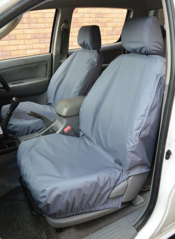TOYOTA HILUX 2005-2016 FRONT SEAT COVERS - GREY