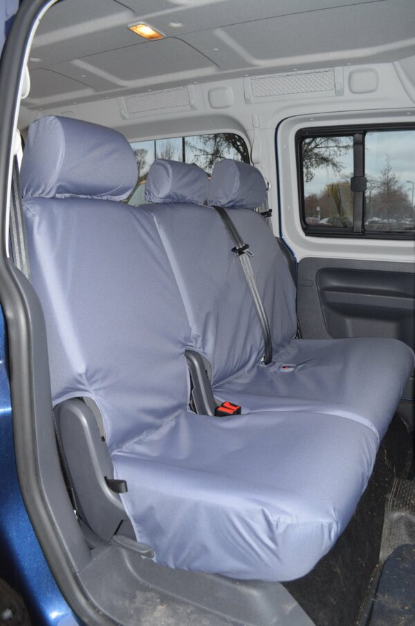 VW CADDY 2ND ROW PASSENGER SEAT COVERS - GREY