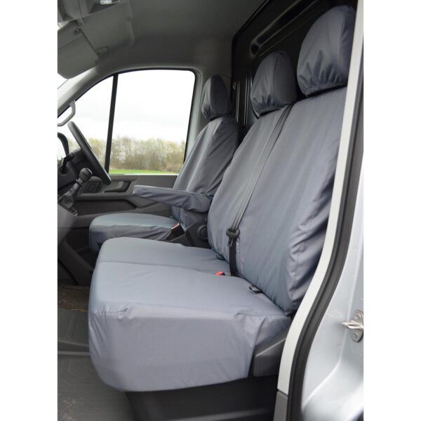 VOLKSWAGEN CRAFTER 2017 ON FRONT SEAT COVERS GREY