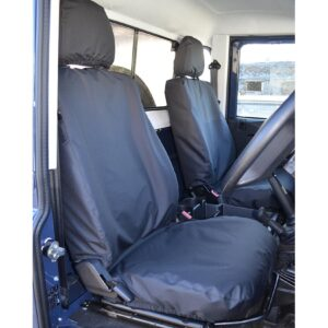 DEFENDER 90 110 SINGLE DRIVER PASSENGER SEAT COVERS - BLACK