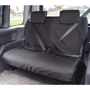 VW CADDY REAR SEAT COVERS DOUBLE BLACK