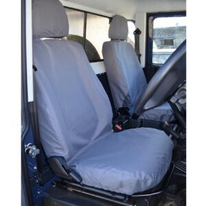 DEFENDER 90 110 SINGLE DRIVER PASSENGER SEAT COVERS - GREY