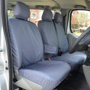 NISSAN PRIMASTAR 2006-2014 DRIVER AND FRONT DOUBLE PASSENGER SEAT COVERS