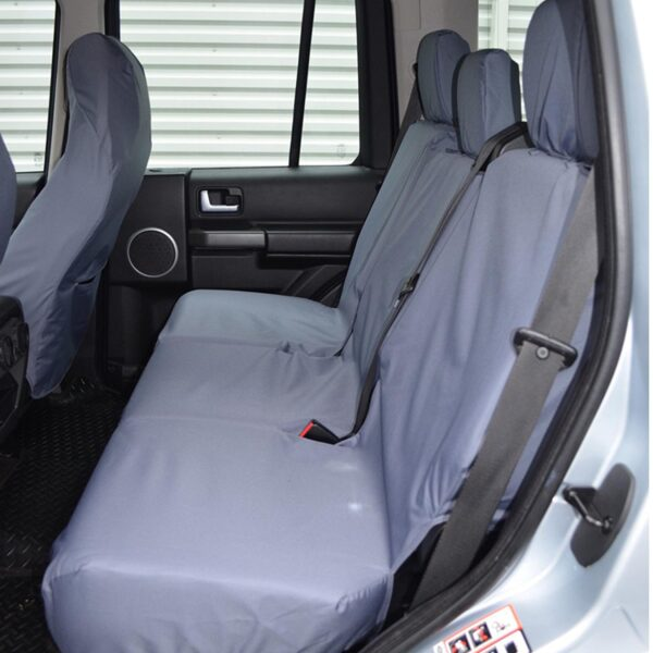 LAND ROVER DISCOVERY 3 4 REAR SEAT COVERS - GREY
