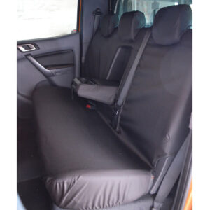 ford ranger rear seat covers - black