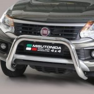 FIAT FULLBACK 2016 ON MISUTONIDA EC APPROVED FRONT BAR – 76MM – STAINLESS