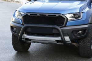 FORD RANGER RAPTOR 2019 ON MISUTONIDA EC APPROVED FRONT BAR – 76MM – BLACK