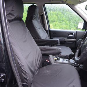 LAND ROVER DISCOVERY 3 4 FRONT SEAT COVERS – BLACK