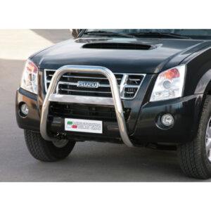ISUZU D-MAX 2006 - 2011 - MISUTONIDA HIGH FRONT BULL BAR WITH NAME – 63MM – STAINLESS FINISH