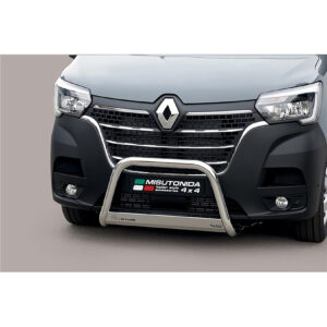 RENAULT MASTER 2019 ON – MISUTONIDA FRONT A-BAR BULL BAR – 63MM – STAINLESS STEEL