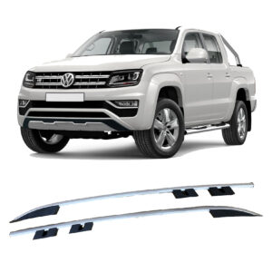 VW AMAROK 2010 ON – DOUBLE CAB – ROOF BARS – RAILS – SILVER – STYLE 2