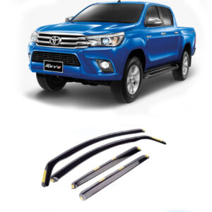 TOYOTA HILUX MK8 2015 ON STX WIND DEFLECTORS 4PCS SET – INTERNAL FIT – DARK SMOKE