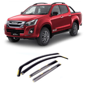 ISUZU D-MAX 2012 ON STX WIND DEFLECTORS 4PCS SET – INTERNAL FIT – DARK SMOKE