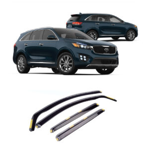 KIA SORENTO 2016 ON STX WIND DEFLECTORS 4PCS SET – INTERNAL FIT – DARK SMOKE