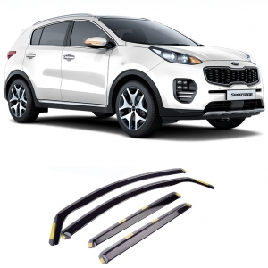 KIA SPORTAGE 2016 ON STX WIND DEFLECTORS 4PCS SET – INTERNAL FIT – DARK SMOKE