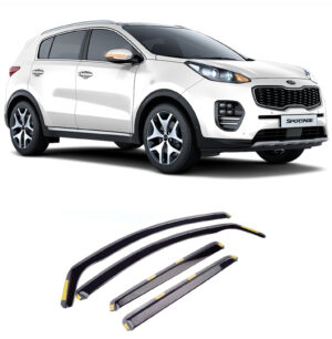 W147 - KIA SPORTAGE 2016 ON STX WIND DEFLECTORS 4PCS SET - INTERNAL FIT - DARK SMOKE