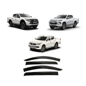 FULLBACK / MITSUBISHI L200 2015 ON DOUBLE CAB QUAD STX WIND DEFLECTORS – 4PCS – EXTERNAL FIT