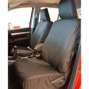 TOYOTA HILUX FRONT SEAT COVERS - BLACK