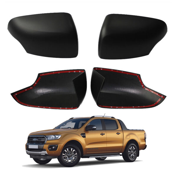Ford Ranger Wing Mirror Covers Caps - Black