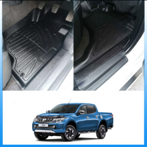 MITSUBISHI L200 SERIES 5 – FIAT FULLBACK 2016 ON – 3D TAILORED RUBBER FLOOR MATS – CH05
