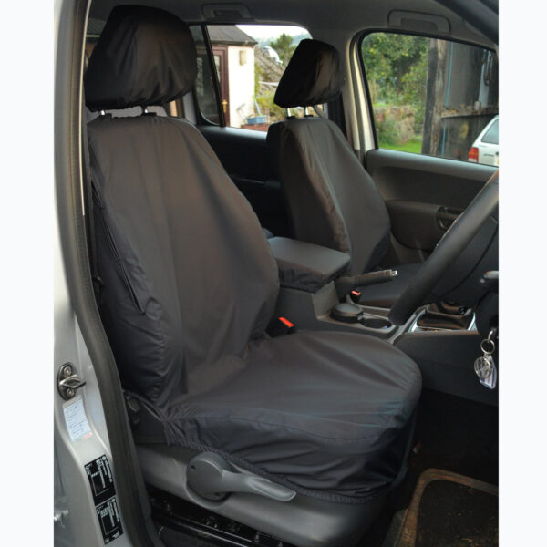 VW AMAROK 2011 ON - FRONT SEAT COVERS - BLACK