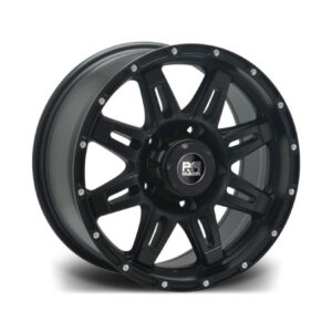 RIVIERA XTREME RX600 BLACK MILLED – 20 INCH ALLOYS – SET OF 4 – 6X114.3