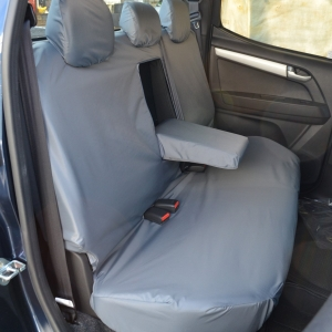 ISUZU D-MAX 2012 ON – REAR SEAT COVERS – NO ARMREST – GREY