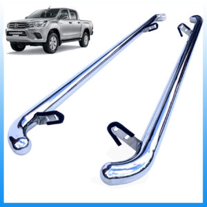 TOYOTA HILUX MK8 2016 ON – OEM STAINLESS STEEL SIDE BARS STEPS – PAIR
