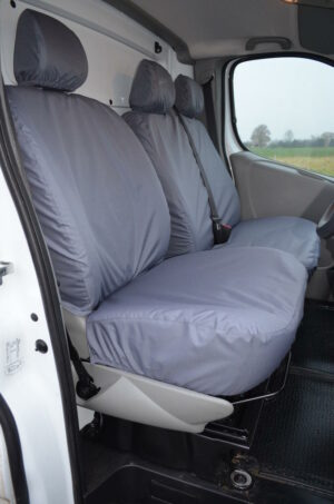 VAUXHALL VIVARO 2008-2013 DRIVER AND DOUBLE PASSENGER SEAT COVERS IN GREY