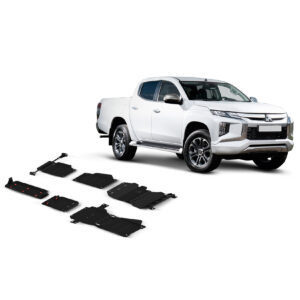 MITSUBISHI L200 2015 ON - OFF-ROAD SKID PLATE - 3MM STEEL - TRANSMISSION CASE AND TRANSFER BOX