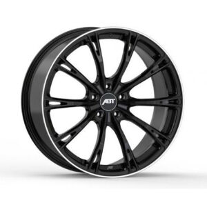VW TRANSPORTER T6 T6.1 2015 ON - ABT SPORT GR20 GLOSSY BLACK ALLOY WHEELS - SET OF 4 - 5X120