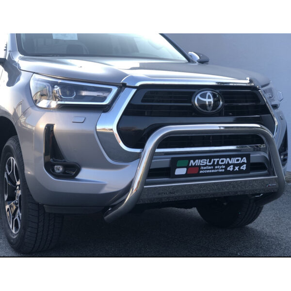 TOYOTA HILUX 2020 ON – MISUTONIDA EU APPROVED FRONT A BAR – 63MM – STAINLESS FINISH