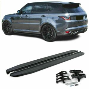 RANGE ROVER VOGUE L405 / SPORT L494 2013 ON OE STYLE SIDE STEPS – RUNNING BOARDS – GLOSS BLACK – PAIR