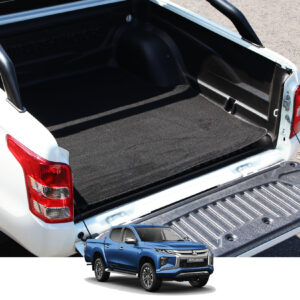 MITSUBISHI L200 SERIES 6 2019 ON DOUBLE CAB LOAD BED CARPET MAT IN BLACK