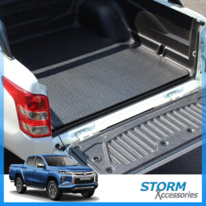 MITSUBISHI L200 SERIES 6 2019 ON DOUBLE CAB LOAD BED RUBBER MAT IN BLACK